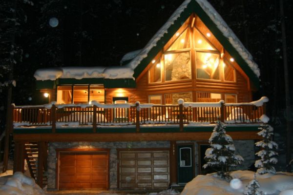 Chalet by winter
